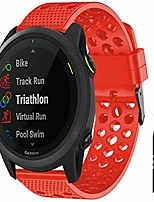 cheap -compatible for garmin forerunner 745 band,  quick release silicone replacement wristbands sport strap with metal buckle compatible for garmin forerunner 745 smartwatch (red)