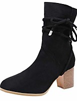 cheap -clearance for shoes,aimtoppy fashion women solid color thick with lace-up boots mid-tube women's boots