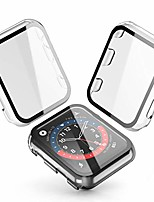 cheap -[2-pack]  transparent hard case for apple watch series 3 / series 2 screen protector 42mm, hard pc case slim tempered glass screen protector overall protective cover for iwatch series 3/2