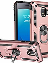 cheap -galaxy j2 core/j2 2019/j2 pure/j2 dash/j2 shine case, [military grade] [metal ring][magnetic support] defender heavy duty armor cover for samsung galaxy j2 (rose gold)