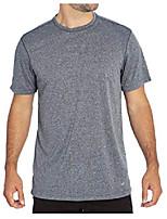 cheap -short sleeve active tee shirt (heather grey, medium)