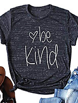 cheap -be kind shirt women tshirt casual short sleeve summer tops christian t-shirt blouse tee (small, black)