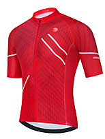 cheap -Men's Short Sleeve Cycling Jersey Red Stripes Bike Top Mountain Bike MTB Road Bike Cycling Breathable Quick Dry Sports Clothing Apparel / Stretchy / Athletic