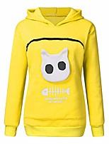 cheap -◕。unisex womens hoodies pet holder cat dog kangaroo pouch carriers pullover pet animal pouch hood tops sweatshirt yellow