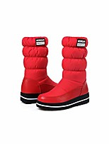 cheap -winter snow boots women warm pmid calf shoes waterproof boot fur platform boots red elastic sleeve plus size,red,8.5
