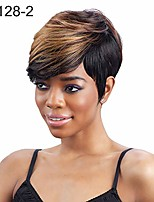 cheap -gloasublim short wigs,oblique bangs short curly hair wig women charming daily party cosplay hairpiece - 66128-2-golden+black