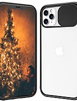 cheap -compatible with iphone 11 pro max clear frosted case,with slide camera cover protection design,slim and lightweight anti-yellow case for iphone 11 pro max-black