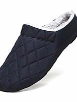 cheap -men fully fur lined waterproof anti-slip winter outdoor slip on house slippers grey