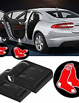 cheap -2pcs fit for boston red sox wireless car door logo led welcome laser projector light,baseball team logo ghost shadow car door light lamp fit for all brands of cars.(for boston red sox)