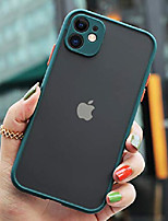 "cheap -compatible with iphone 11 case, translucent matte pc back & non-slip soft tpu edge bumper (protection & anti scratch), full-body camera protective case cover for iphone 11 6.1"" (midnight"