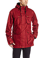 cheap -men's ab/bc snow skiing jacket, oxblood, small