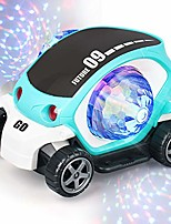 cheap -electric musical car toy with lights and sounds,flashing led light vehicles toy car cartoon model for toddlers kids boys girls gift (blue)