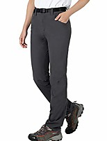 cheap -women's durable lightweight hiking pants quick dry nylon outdoor travel pants with zip pockets, water resistant, graphite grey,4
