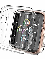 cheap -ahastyle 2 pack ultra clear iwatch case screen protector full coverage slim case cover shockproof [not wateproof] compatible with apple watch 38mm 42mm 40mm 44mm, iwatch series se/6/5/4/3/2/1(38mm)
