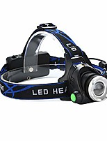 cheap -rechargeable headlamp,zoomable waterproof led head lamp flshlight, hands-free headlight torch lamp for hunting hiking camping fishing reading running cycling (black)