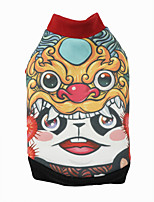 cheap -Dog Cat Coat Hoodie Cartoon Panda Funny Casual / Daily Winter Dog Clothes Puppy Clothes Dog Outfits Breathable Red Costume for Girl and Boy Dog Cotton Polyster XS S M L XL XXL