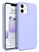 "cheap -compatible with iphone 12 case and iphone 12 pro case, slim fit soft flexible silicone bumper non-slip protective cute girls women case for iphone 12/12 pro 6.1"" 5g (2020), purple/lavender"