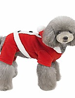 cheap -dog christmas cosumes winter warm plush pet hoodies sweatshirt christmas cosplay soft fleece thickening pet clothes for small medium dogs cats (l, red)