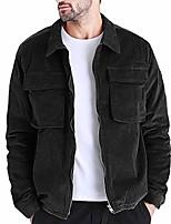 cheap -landscap mens autumn fashion corduroy coat casual long sleeve solid casual tops full zip fashion outdoor jacket (green,xxxl)