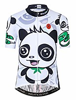 cheap -kid children boys' girls' short sleeve cycling jersey for youth