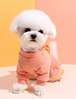 cheap -Dog Shirt / T-Shirt Dress Solid Colored Sweet Style Cute Casual / Daily Winter Dog Clothes Puppy Clothes Dog Outfits Breathable Blue Pink Costume for Girl and Boy Dog Cotton S M L XL XXL 3XL