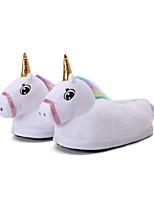 cheap -Adults' Kigurumi Pajamas Slippers Unicorn Flying Horse Onesie Pajamas Cotton White Cosplay For Men and Women Animal Sleepwear Cartoon Festival / Holiday Costumes / Shoes