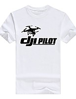 cheap -dji drone phantom pilot funny mens pullover cotton t-shirt casual(medium,white)
