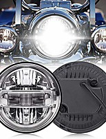cheap -7 inch led headlight high/low beam drl compatible with harley glide series, softail series, sport glide, ultra limited, street glide special, road glide special, dot approval, chrome, 1pcs