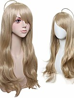 cheap -halloweencostumes women's blonde wig for kaede akamatsu cosplay halloween costume party long wavy with side bangs synthetic anime wig
