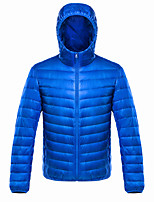 cheap -Men's Sports Puffer Jacket Hiking Down Jacket Winter Jacket Top Outdoor Lightweight Windproof Breathable Quick Dry Autumn / Fall Winter Fleece Light Gray Wine ArmyGreen Fishing Climbing Camping