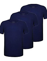 cheap -men's 3-pack bamboo ultra soft comfy undershirts crew neck t-shirts (navy crew neck 3-pack, l)