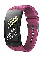 cheap -compatible samsung gear fit2 pro band/gear fit 2 bands, replacement silicone smartwatch bands compatible samsung gear fit2 pro (small, carmine)