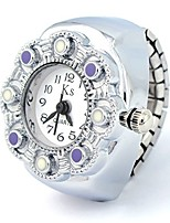 cheap -fashion cute creative candy colored white round dial quartz ring watch(purple)