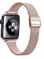 cheap -metal slim bands compatible with apple watch band 38mm 40mm 42mm 44mm, stainless steel narrow small soft replacement wristband for iwatch series 5 4 3 2 1 for women and man (rose pink, 38mm/40mm)
