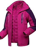 cheap -3 in 1 jacket women waterproof warm down jacket winter coat plus size pink l