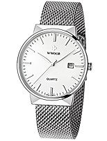 cheap -men's sport quartz watch male mesh band watches with date white