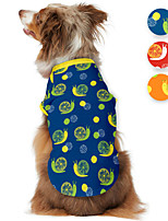 cheap -Dog Shirt / T-Shirt Animal Printed Snails Animals Casual / Daily Dog Clothes Puppy Clothes Dog Outfits Breathable Yellow Red Blue Costume for Girl and Boy Dog Polyster S M L XL