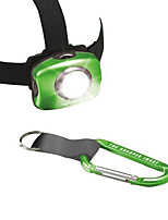 cheap -headlamp with simple carabiner (green)