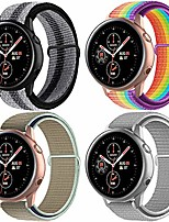 cheap -quick release 20mm watch band compatible with samsung galaxy/galaxy watch active 2/ huawei/pebble/asus/ticwatch smart watch, nylon soft lightweight breathable sport loop band