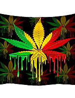 cheap -Wall Tapestry Art Decor Blanket Curtain Picnic Tablecloth Hanging Home Bedroom Living Room Dorm Decoration Polyester Novelty Modern Colorful Leaf Pattern