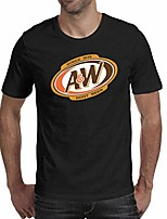 cheap -round collar t shirt men a&w-root-beer-logo- vintage top