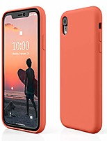 "cheap -case for iphone xr, iphone xr silicone case, slim rubber gel iphone xr case, full body shockproof phone case with microfiber lining for iphone xr 6.1"", 2018 (nectarine)"