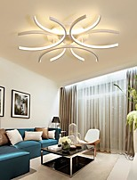 cheap -60cm LED Ceiling Light Modern Nordic Geometric Flower Shapes Stylish Flush Mount Lights Living Room Dining Room Bedroom Metal Painted Finishes110-120V 220-240V
