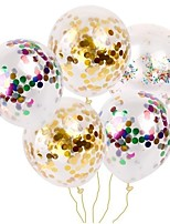 cheap -10Pcs Gold Foil Confetti Transparent Balloons Gold Star Foil Confetti Transparent Balloons Globos Birthday Party Decor