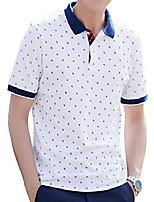 cheap -men's short sleeve polo shirt,golf tennis t-shirt lightweight and breathable, casual classic comfortable polo shirt,simple ship anchor printed white,4xl