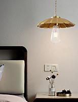 cheap -25cm LED Pendant Light Modern Nordic Gold Bedside Light Bowl Downlight Copper Bedroom Bar Dining Room 110-120V 220-240V