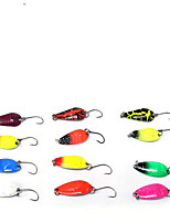 cheap -12 pcs Fishing Lures Spoons Bass Trout Pike Bait Casting