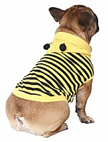 cheap -bee dog costumes hoodie sleeveless clothes shirt pullover for french bulldog frenchie shiba inu -black and yellow bee