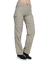 cheap -women's soft stretchy pants lightweight breathable travel convertible trousers(khaki,s)