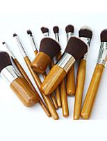 cheap -11 New Bamboo Handle Cosmetic Brush Sets Foundation Brush Powder Powder Brush Makeup Tool Makeup